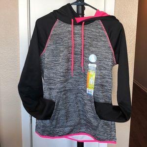 Grey/black/pink hoodie